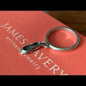 James Avery RETIRED rare sz 4 ballet slipper ring